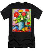 Colorful Flowers From My Garden Men's T-Shirt (Athletic Fit)