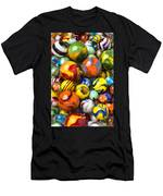 Colorful Glass Marbles Men's T-Shirt (Athletic Fit)
