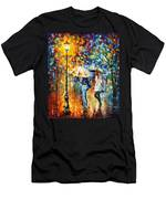 Conversation - Palette Knife Oil Painting On Canvas By Leonid Afremov Men's T-Shirt (Athletic Fit)