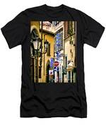 Corner Of Pensione And Bar Men's T-Shirt (Athletic Fit)