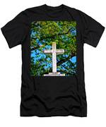 Cross At The Monastery Of The Holy Spirit Men's T-Shirt (Athletic Fit)