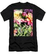 Dahlias And Hydrangeas Bouquet Men's T-Shirt (Athletic Fit)