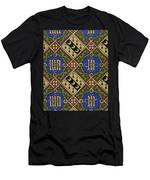 Diamond Print Ecclesiastical Wallpaper Men's T-Shirt (Athletic Fit)