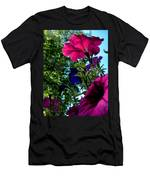 Donna's Blooming Petunias Men's T-Shirt (Athletic Fit)
