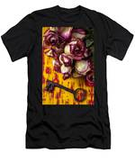 Dried Pink Roses And Key Men's T-Shirt (Athletic Fit)