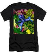Exotic Blue Men's T-Shirt (Athletic Fit)