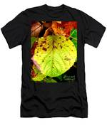 Fading Hydrangea Leaf Men's T-Shirt (Athletic Fit)