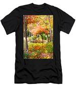 Fall Folage And Pond Men's T-Shirt (Athletic Fit)
