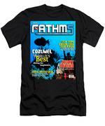 Fathms Faux Magazine Cover Men's T-Shirt (Athletic Fit)