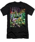 Fields And Fences Of Wawona In Yosemite National Park Men's T-Shirt (Athletic Fit)