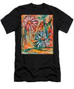 Floral Swirl Men's T-Shirt (Athletic Fit)