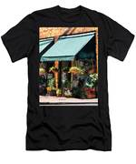 Flower Shop With Green Awnings Men's T-Shirt (Athletic Fit)