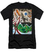 Forever Wild Original Madart Painting Men's T-Shirt (Athletic Fit)