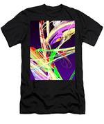 Fractal - Pussy Willows Men's T-Shirt (Athletic Fit)