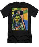 Franzi In Front Of Carved Chair Men's T-Shirt (Athletic Fit)