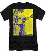 Freeway Pole Art Sailor-pole Art Photo Series Yellow Blue Men's T-Shirt (Athletic Fit)