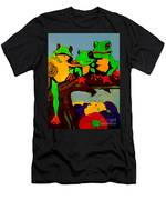 Frog Family Hanging Out On A Limb Men's T-Shirt (Athletic Fit)