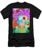 Frog Under A Mushroom Men's T-Shirt (Athletic Fit)