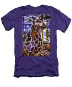 Fun Giraffe Carousel Ride Men's T-Shirt (Athletic Fit)