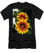 Gazania Named Kiss Yellow Flame Men's T-Shirt (Athletic Fit)