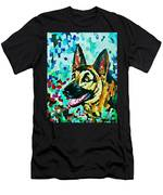 German Shepard Watercolor Men's T-Shirt (Athletic Fit)