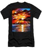 Glowing Sun Men's T-Shirt (Athletic Fit)