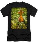 Gravestone With Snowdrops Men's T-Shirt (Athletic Fit)