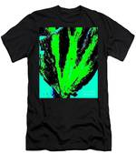 Green Blue Plant Abstract Men's T-Shirt (Athletic Fit)