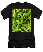 Green Hot Peppers Men's T-Shirt (Athletic Fit)