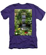 Greenhouse Garden Waterfall Men's T-Shirt (Athletic Fit)