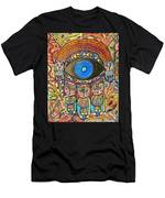 Hamsa Cat Blessing Men's T-Shirt (Athletic Fit)