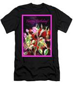 Happy Birthday Rose Men's T-Shirt (Athletic Fit)