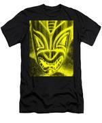 Hawaiian Mask Negative Yellow Men's T-Shirt (Athletic Fit)