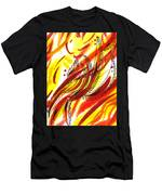 Hot Lines Twist Abstract Men's T-Shirt (Athletic Fit)