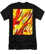 Hot Moving Lines And Dots Abstract Men's T-Shirt (Athletic Fit)