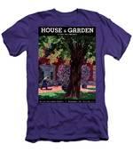 House & Garden Cover Illustration Of A Gardener Men's T-Shirt (Athletic Fit)