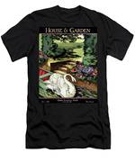 House & Garden Cover Illustration Of A Swan Men's T-Shirt (Athletic Fit)