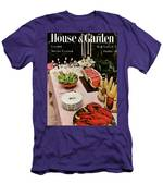 House And Garden Cover Featuring A Buffet Table Men's T-Shirt (Athletic Fit)