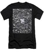 1m9343-ice Crystals On Black Ice, Tetons Men's T-Shirt (Athletic Fit)