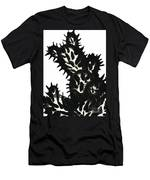 Ink Painting Of Opuntia Cactus Men's T-Shirt (Athletic Fit)