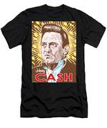 Johnny Cash Pop Art Men's T-Shirt (Athletic Fit)