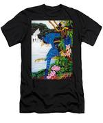 Jungle Chats Hand Embroidery Men's T-Shirt (Athletic Fit)