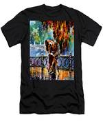Kiss After The Rain - Palette Knife Oil Painting On Canvas By Leonid Afremov Men's T-Shirt (Athletic Fit)