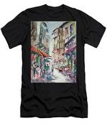 Little Trip At Exotic Streets In Istanbul Men's T-Shirt (Athletic Fit)