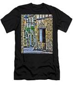 Lonely Lane In Sarlat France Men's T-Shirt (Athletic Fit)