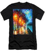 Love By The Lake - Palette Knife Oil Painting On Canvas By Leonid Afremov Men's T-Shirt (Athletic Fit)