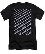 Metal Texture Oblique Men's T-Shirt (Athletic Fit)