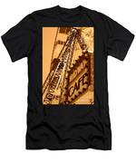 Midway Cafe Sepia Men's T-Shirt (Athletic Fit)