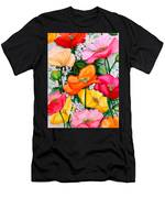Mixed Poppies Men's T-Shirt (Athletic Fit)