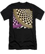 Mosaic Quarter Circle Bottom Left  Men's T-Shirt (Athletic Fit)